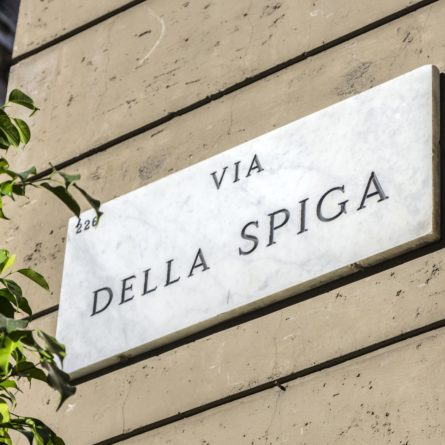 Della Spiga shopping street, Milan
