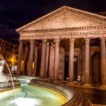 pantheon-at-night
