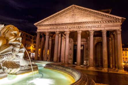 pantheon-at-night