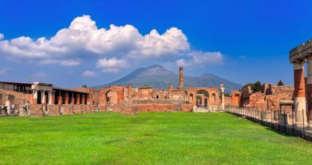 Pompeii and Mount Vesuvius, Naples, Italy