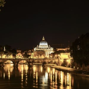 Panorama of Rome by Night
