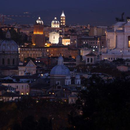 roma notturna dal gianicolo