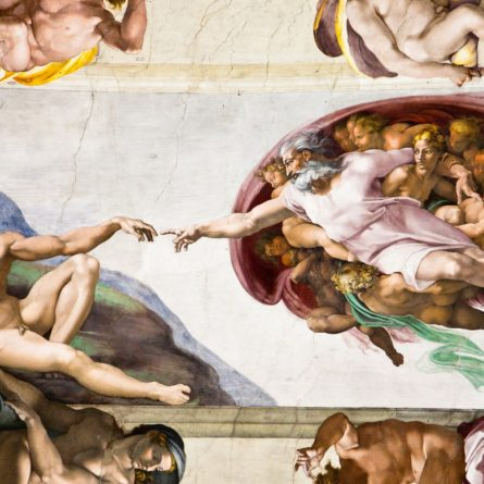 Creation of Adam by Michelangelo, Sistine Chapel, Rome