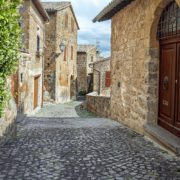 Streets of the city Orvieto, Italy, Toscana