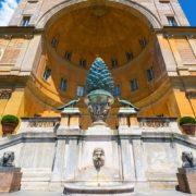 The Fontana della Pigna in Vatican, Rome
