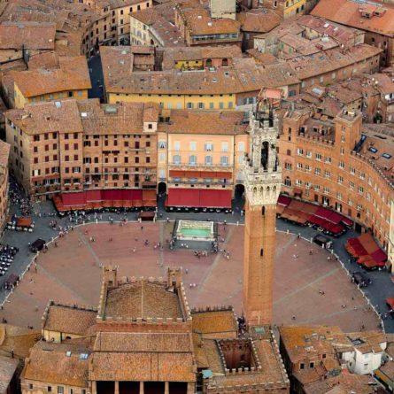 Siena – Aerial view – Tuscany Tours