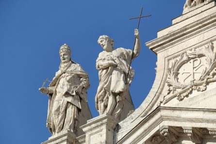 Detail of Papal Archbasilica of St. John Lateran in Rome