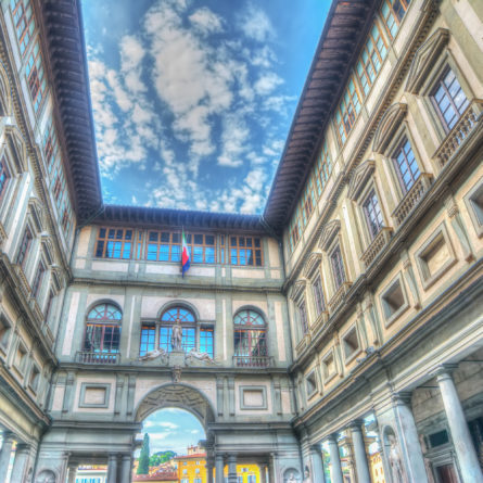 Uffizi gallery in Florence in hdr