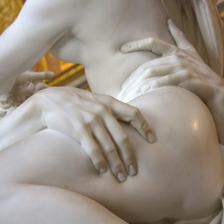 Detail of sculpture by Gian Lorenzo Bernini, Rape of Proserpine