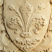 fleur de lis of Florence – close up of  the marble decor
