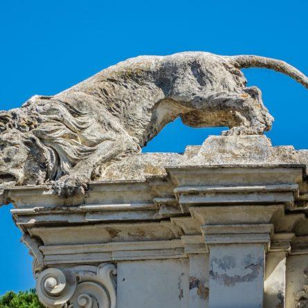 Entrance to Bioparco zoo at Villa Borghese. Rome. Italy.