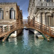 Wooden Bridge, Venice, Italy.