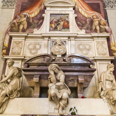 Detail of Michelangelo tombstones