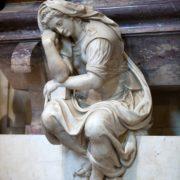 Florence – Santa Croce.Tomb of Michelangelo Buonarroti