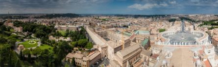 Aerial view of Vatican