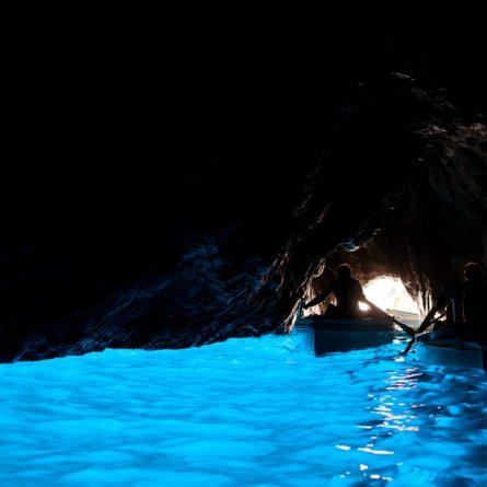 Grotta Azzurra, cave on the coast of the island of Capri.