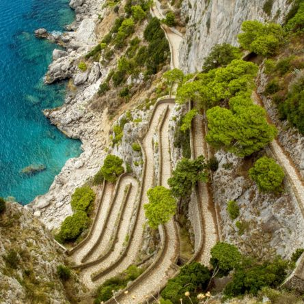 Via Krupp on Capri island in Italy