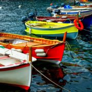 Fishing boats, Manarola, Italy