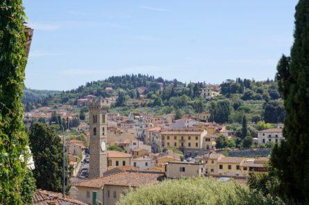 Vue gnrale de la ville de Fiesole