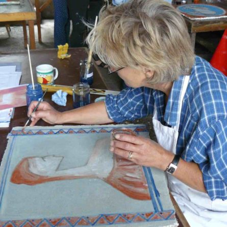 Fresco painting lesson