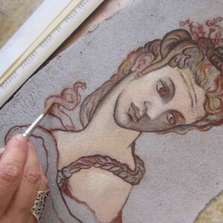 Fresco painting lesson – Florence