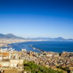 Panorama of Naples city in Italy