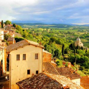 Pizza-Making, Pienza, and Montepulciano