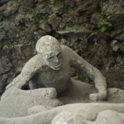 eruption victim of Vesuvius in Pompeii