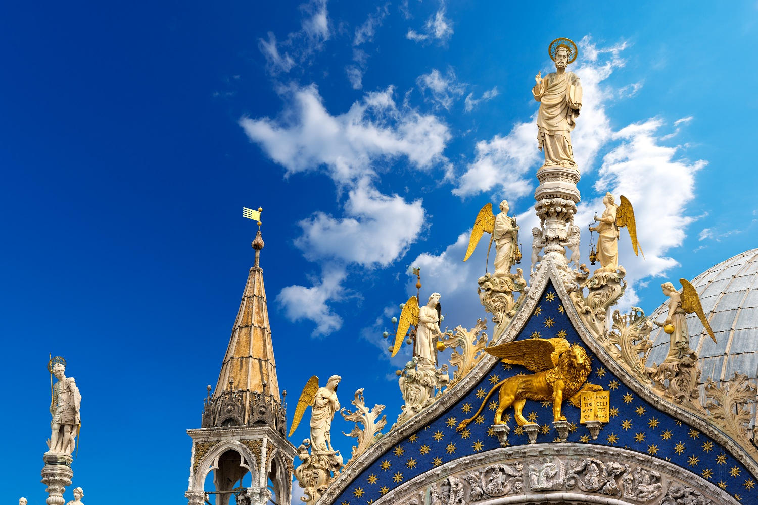 Detail of the St. Mark Cathedral in the city of Venezia (UNESCO world heritage site), Veneto, Italy